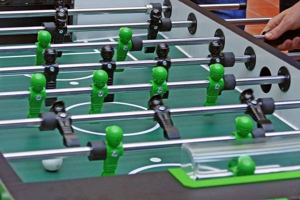 In addition to the fun factor, table football can also satisfy numerous scientific requirements. (Photo FHWS / Klein)
