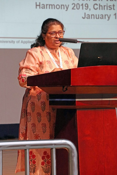 Professor Dr. Vathsala Aithal from the FHWS gave a speech at the ceremony.