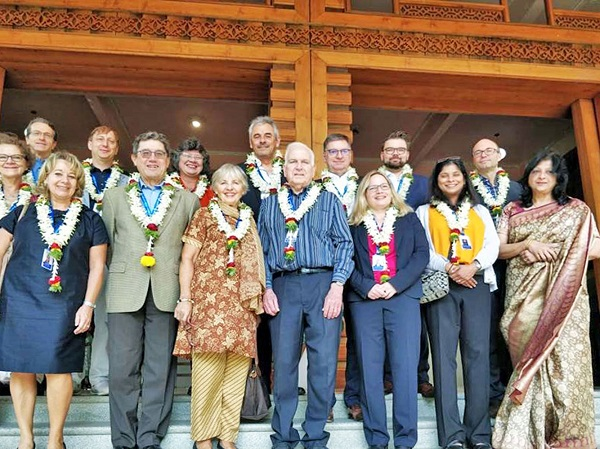 FHWS Delegation, representatives of foreign partner universities of Christ University and Dean of MBA Programs of Christ University Dr. Suniti Phadke (right) (Photo FHWS / Cornelia Lorenz)